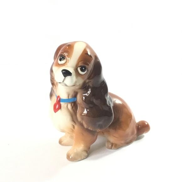 Vintage Ceramic Disney Lady Figurine Dog Japan